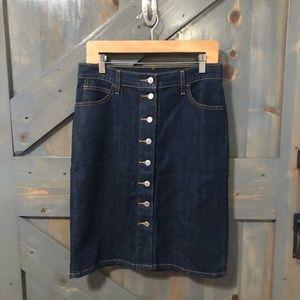 Levi's Button Denim Skirt Size 28